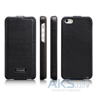 Чехол iCarer Luxury Flip Apple iPhone 5, iPhone 5S, iPhone 5SE Black