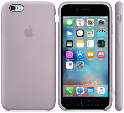 Чехол Apple Silicone Case for iPhone 6S Plus Lavender (MLD02)