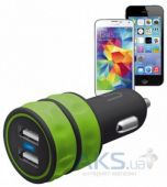 Вид 2 - Зарядное устройство Trust Urban Revolt DUAL SMART CAR CHARGER (1A/1A) Green