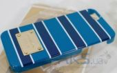 Вид 2 - Чехол Michael Kors Stripe Case for iPhone 5/5S Blue (MK-STRP-BLUE)