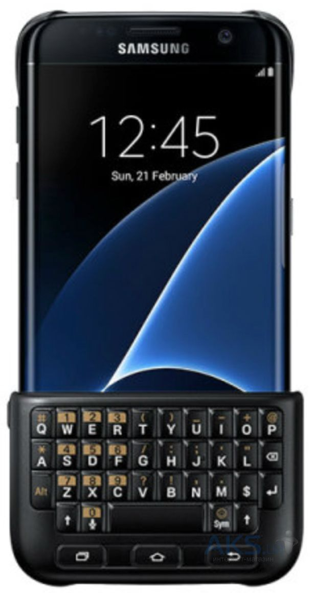 Чехол Samsung Keyboard Cover Series G935 Galaxy S7 Edge Black (EJ-CG935UBEGRU)