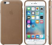 Чехол Apple Leather Case iPhone 6, iPhone 6S Brown (MKXR2)