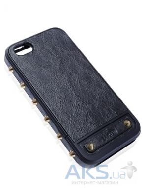 Чехол Lucien Elements Le Baron Leather Series Aurum for iPhone 5/5S Black
