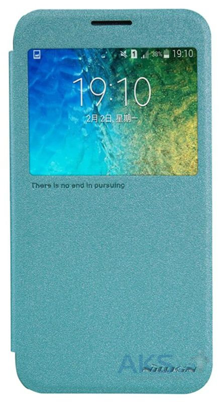 Чехол Nillkin Sparkle Leather Series Samsung E500 Galaxy E5 Turquoise