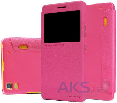 Чехол Nillkin Sparkle Leather Series Lenovo A7000, Lenovo K3 Note Rose Red