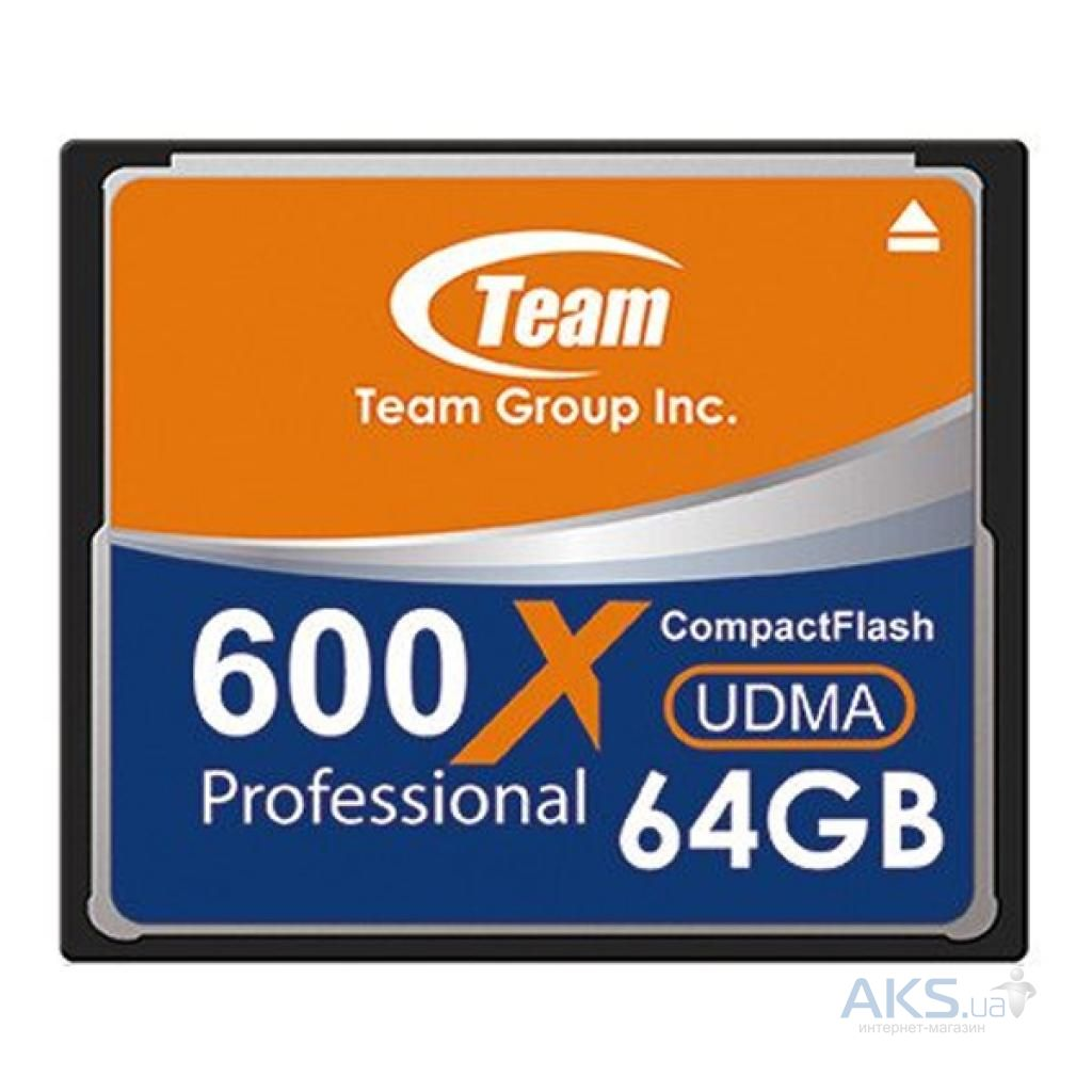 Карта памяти Team 64GB Compact Flash 600x (TCF64G60001)