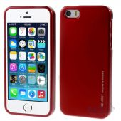 Чехол Mercury TPU Jelly Metal Series Apple iPhone 5, iPhone 5S Red