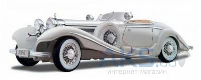 Автомодель Maisto Mercedes-Benz 500 K Typ Specialroadster (1936) Macharadga (36055 white) Белый