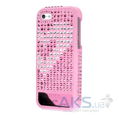 Чехол Lucien Elements Hearts Exclusive Selections Rose III for iPhone 5/5S Pink