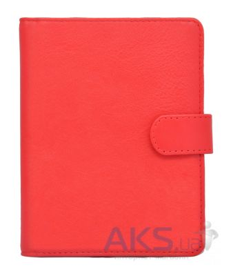Обложка (чехол) Korka Classical Red (U1-Clas-leath-rd) (кожа) для PocketBook 611/613/622