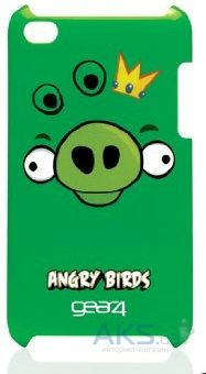 Чехoл Angry Birds Protective Case King Pig Green for iPod touch 4G