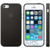 Чехол Apple Leather Apple iPhone 5, iPhone 5S, iPhone SE Black (MF045)