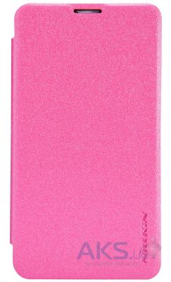 Чехол Nillkin Sparkle Leather Series Nokia Lumia 530 Pink