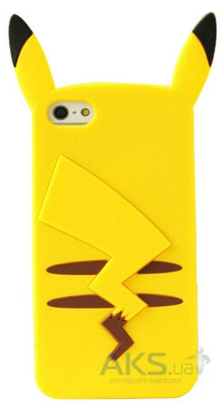 Чехол Original 3D TPU Pokemon Go Series Apple iPhone 6, iPhone 6S Pikachu