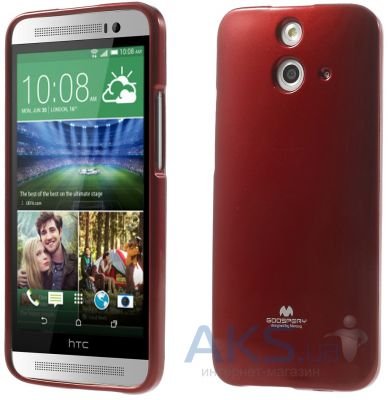 Чехол Mercury TPU Jelly Color Series HTC One E8 Dual sim Red