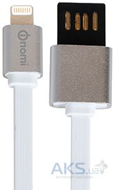 Кабель USB Nomi DCMD 10i Lightning Cable 1м White / Silver