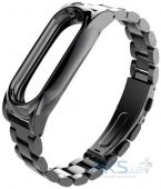 Mijobs Metal Band for Xiaomi MiBand 2 Black