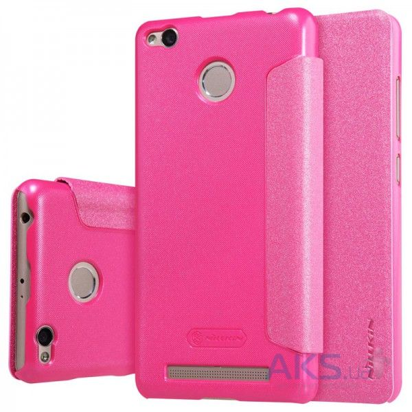 Чехол Nillkin Sparkle Leather Series Xiaomi Redmi 3 Pro Pink