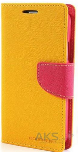 Чехол Mercury Fancy Diary Samsung G925F Galaxy S6 Edge Yellow