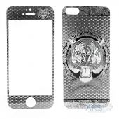 Защитное стекло Tempered Glass Tiger Series Apple iPhone 5, iPhone 5S, iPhone SE Silver (экран + задняя крышка)