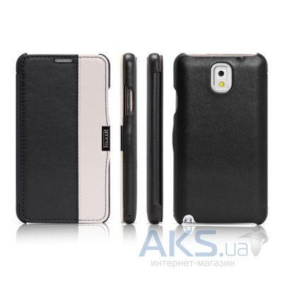 Чехол iCarer Side Open colorblock for Samsung N9000 Galaxy Note 3 Black+White (RS900002BO)