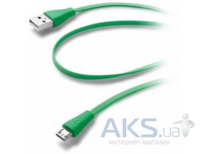 Кабель USB Cellular Line microUSB Cable Green (USBDATACMICROUSBG)