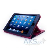 Вид 2 - Чехол для планшета Tuff-Luv Manhattan Leather Case Cover with Sleep Function for Apple iPad Mini Navy/Berry Pink (I7_22)