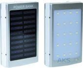 Внешний аккумулятор power bank MANGO Solar+LED 2USB 10000 mAh Silver