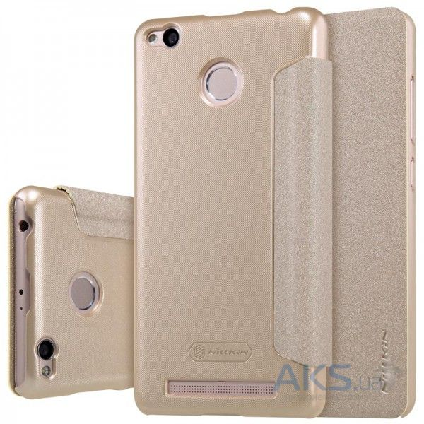Чехол Nillkin Sparkle Leather Series Xiaomi Redmi 3 Pro, Redmi 3S Gold