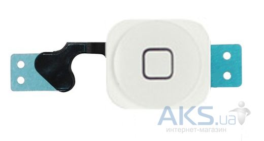 Шлейф для Apple iPhone 5 с кнопкой Home Original White