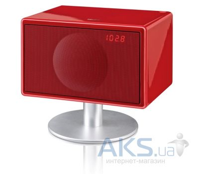 Колонки акустические Geneva Sound System model S (with bluetooth + clock radio) Red
