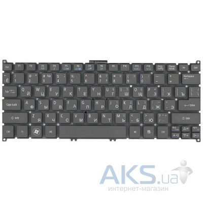 Клавиатура для ноутбука Acer Aspire S3,S5,One 756, TravelMate B1 RU, (9Z.N7WPW.00R) Gray