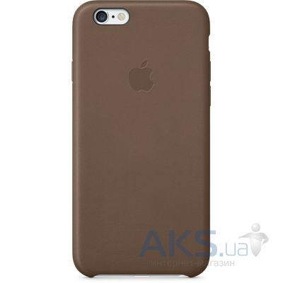 Чехол Apple Leather Case iPhone 6 Olive Brown (MGR22)