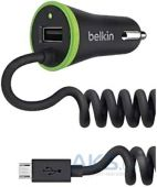 Зарядное устройство Belkin Car Charger + MicroUSB cable Black