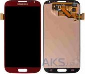 Дисплей (экран) для телефона Samsung Galaxy S4 I337, Galaxy S4 I9500, Galaxy S4 I9505 + Touchscreen Original Red