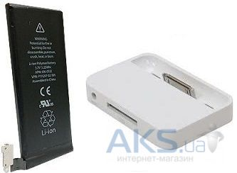 Аккумулятор Apple iPhone 4S (1430 mAh) Original + Dock station (86018) White