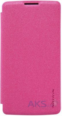 Чехол Nillkin Sparkle Leather Series LG Optimus Y50 Leon H324 Pink