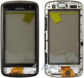 Сенсор (тачскрин) для Nokia C6-01 with frame Original Black