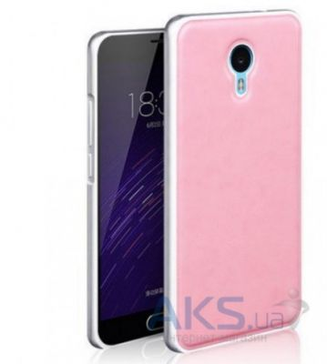 Чехол Mofi Metal Leather Series Meizu M2 Note Pink