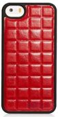 Чехол Xoomz PU Grid Apple iPhone 5, iPhone 5S, iPhone SE Red