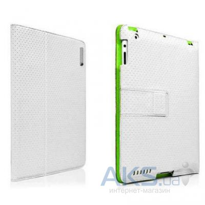 Чехол для планшета Capdase Folder Case Folio Dot White/Green for iPad 4/iPad 3/iPad 2 (FCAPIPAD3-P026)