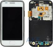 Дисплей (экраны) для телефона Samsung Galaxy S I9000 + Touchscreen with frame Original White