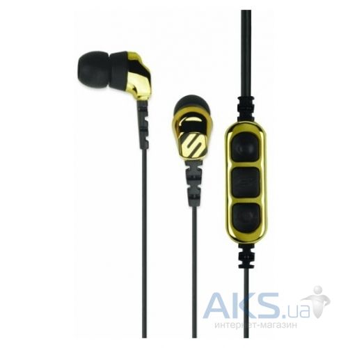 Наушники (гарнитура) Scosche Noise Isolation Earbuds с пультом управления и микрофоном Gold (HP255MDGD)