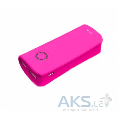 Внешний аккумулятор Arun Power Bank  Y27 Dual USB output 4500mAh Pink