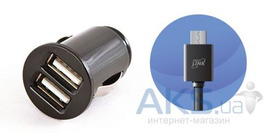 Зарядное устройство EasyLink Car charger 2USB + MicroUSB cable (EL-286) Black