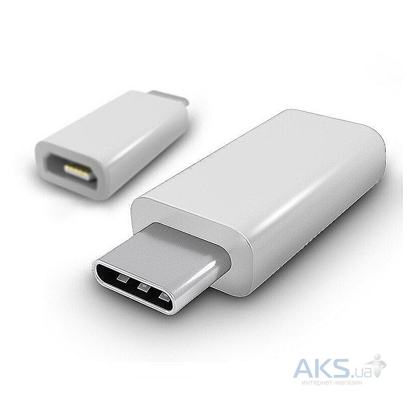 Адаптер-переходник Siyoteam Micro USB to Type-C Charge adapter White - фото 2