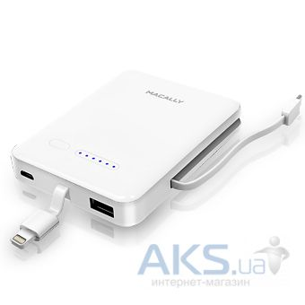 Внешний аккумулятор Macally MBP30L 3000mAh with Lightning connector  for iPhone and iPod White