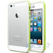 Чехол SGP Neo Hybrid EX bumper Apple iPhone 5, iPhone 5S, iPhone 5SE White Lime
