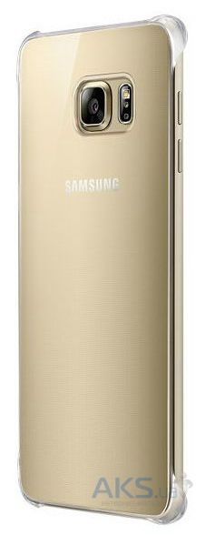 Чехол Samsung Clear Glossy Series G928 Galaxy S6 Edge Plus Gold (EF-QG928MFEGRU)