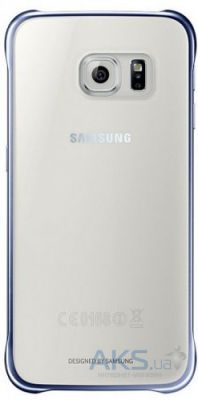 Чехол Samsung Clear Cover G920F Galaxy S6 Blue/Black (EF-QG920BBEGRU)
